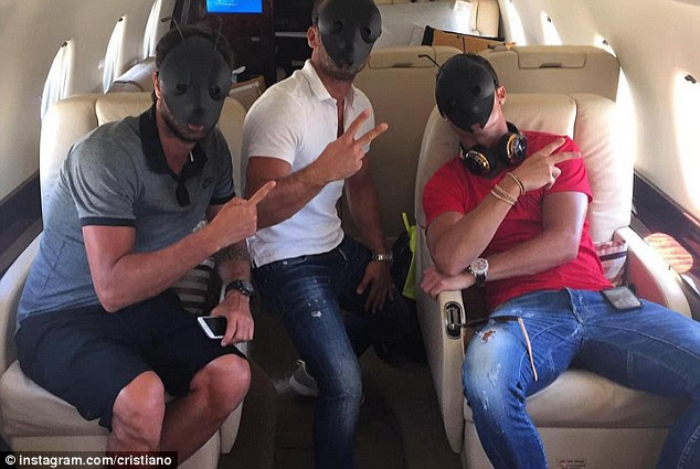 Cristiano Ronaldo posted a photo of him wearing an ant mask as he  joined Portugal for Euro 2016