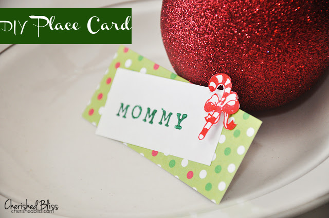 DIY Christmas Place Cards tutorial via Cherishedbliss.com #christmas