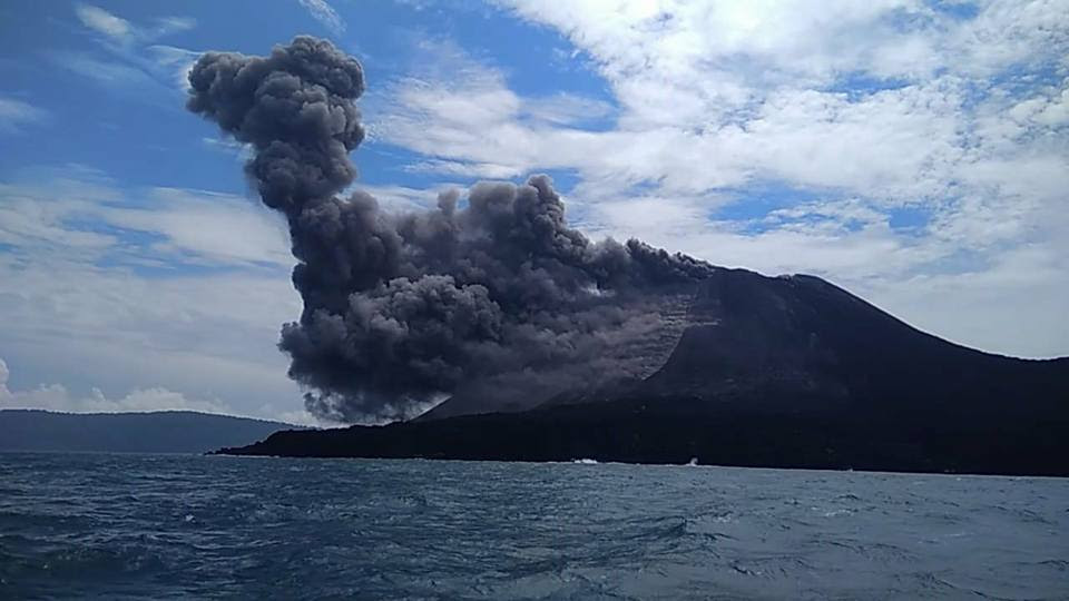 Anak Krakatao eruption on June 19 2018, Anak Krakatao eruption on June 19 2018 video, Anak Krakatao eruption on June 19 2018 pictures