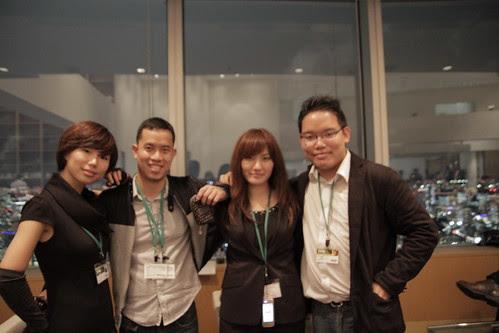 Qian Qian, Ming Jin, Yukiko the Volunteer and me, atop Tokyo