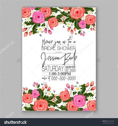 Wedding Invitation Printable Template With Floral Wreath
