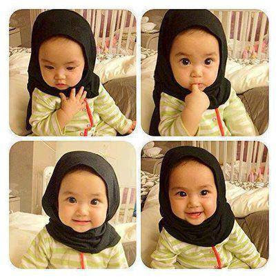 Gambar Anak Kecil Lucu Pake Hijab