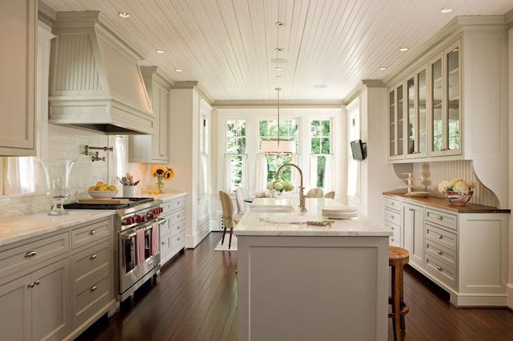 Beadboard Kitchen Ceiling -Transitional - kitchen - Anne ...