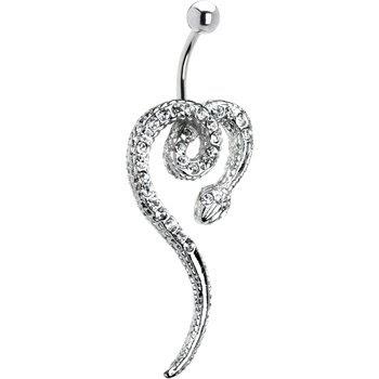 bijoux de corps piercing pour le nombril bijou cristallin et serpent. Black Bedroom Furniture Sets. Home Design Ideas