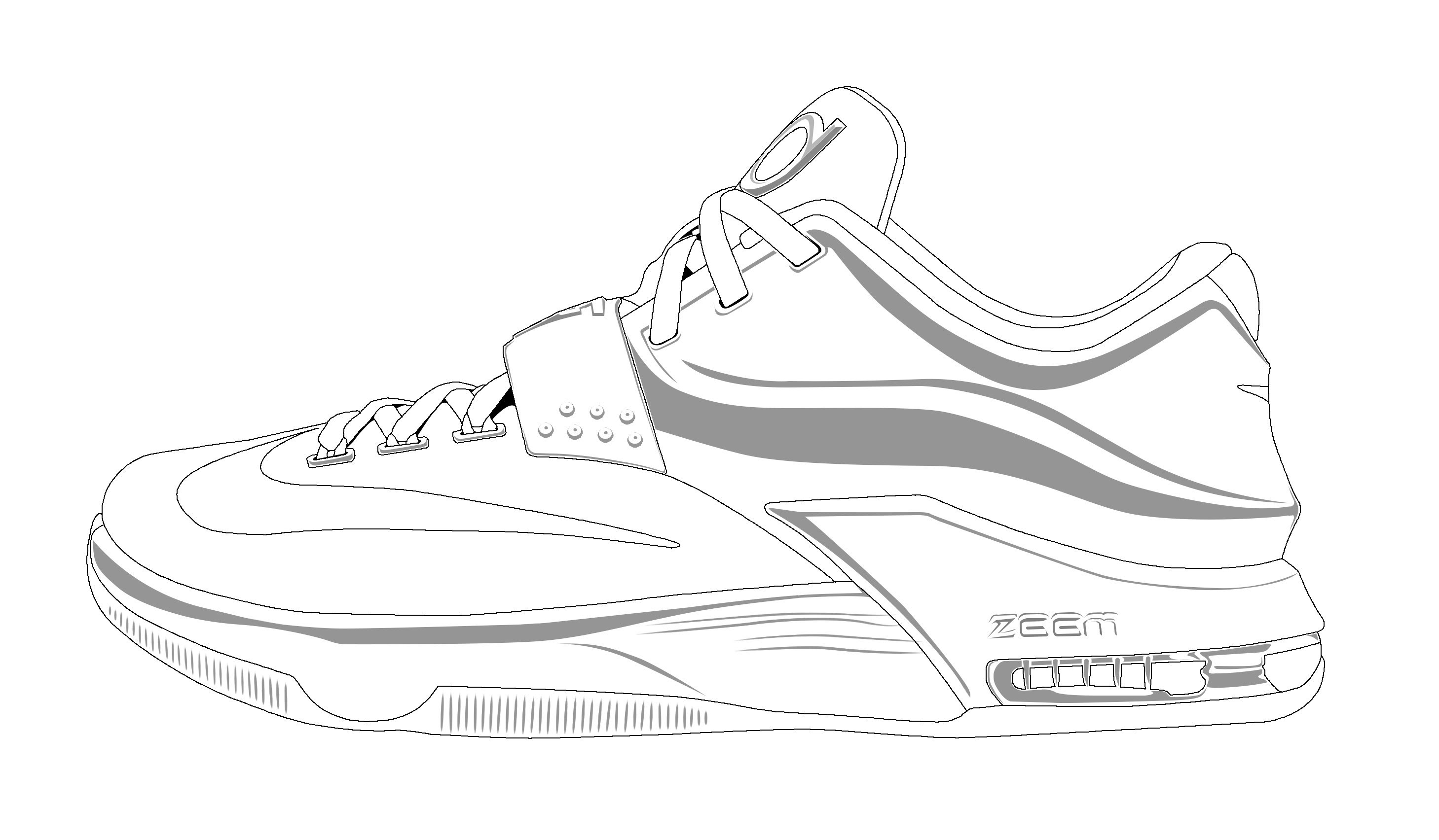 Drawing Of Kd Shoes At Getdrawingscom Free For Personal Use