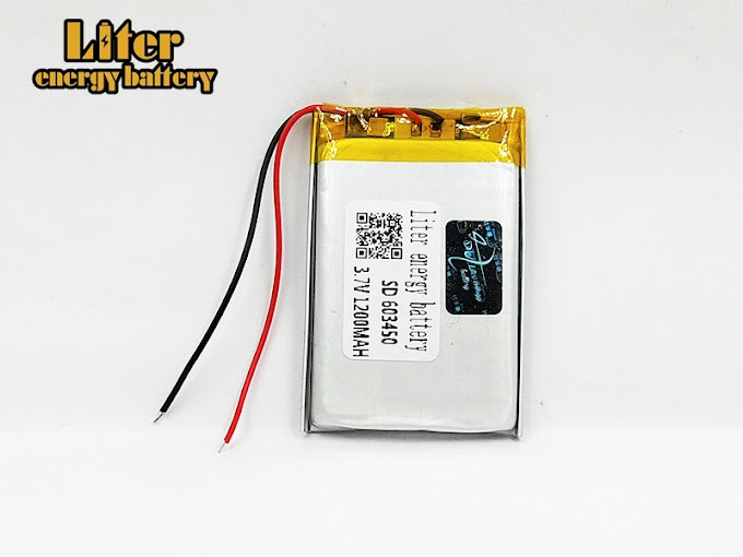 3.7V 1200mAh 603450 Lithium Polymer LiPo Rechargeable Battery For MP3 MP4 GPS DVD mobile PAD E-books Drone Camera 603450