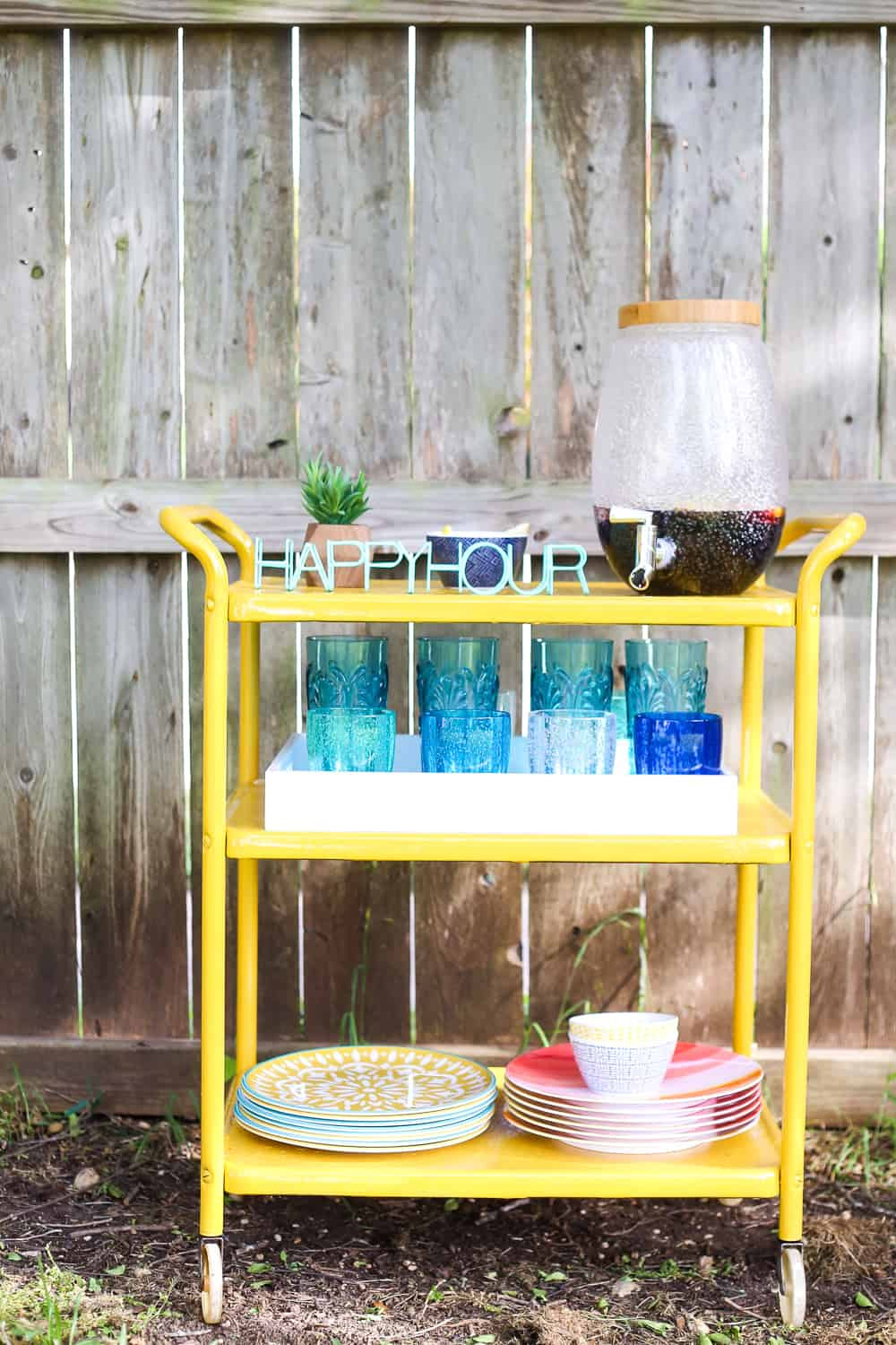 bar cart makeover