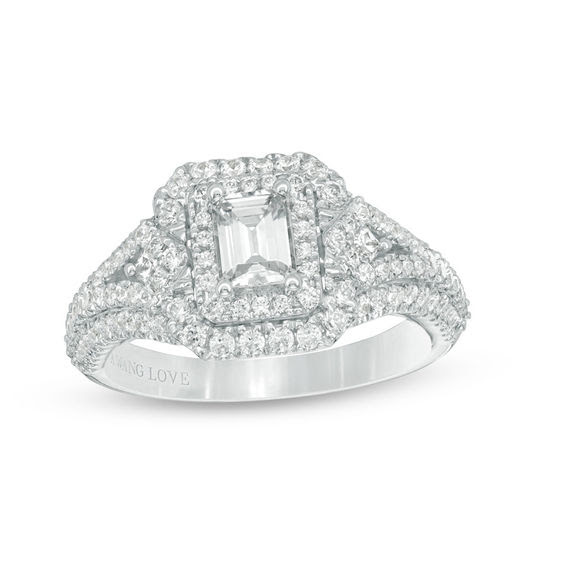 Vera Wang Love Collection 129 Ct Tw Emerald Cut Diamond Frame