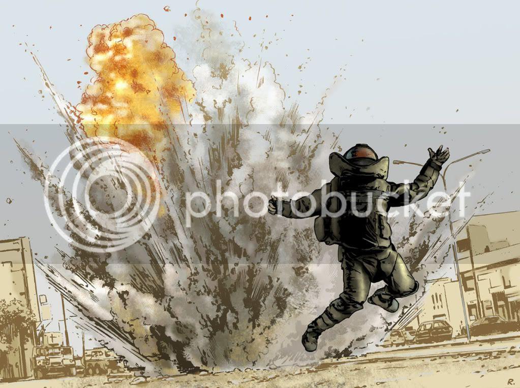 Illustration,Graeme Neil Reid,The Hurt Locker,D-Day
