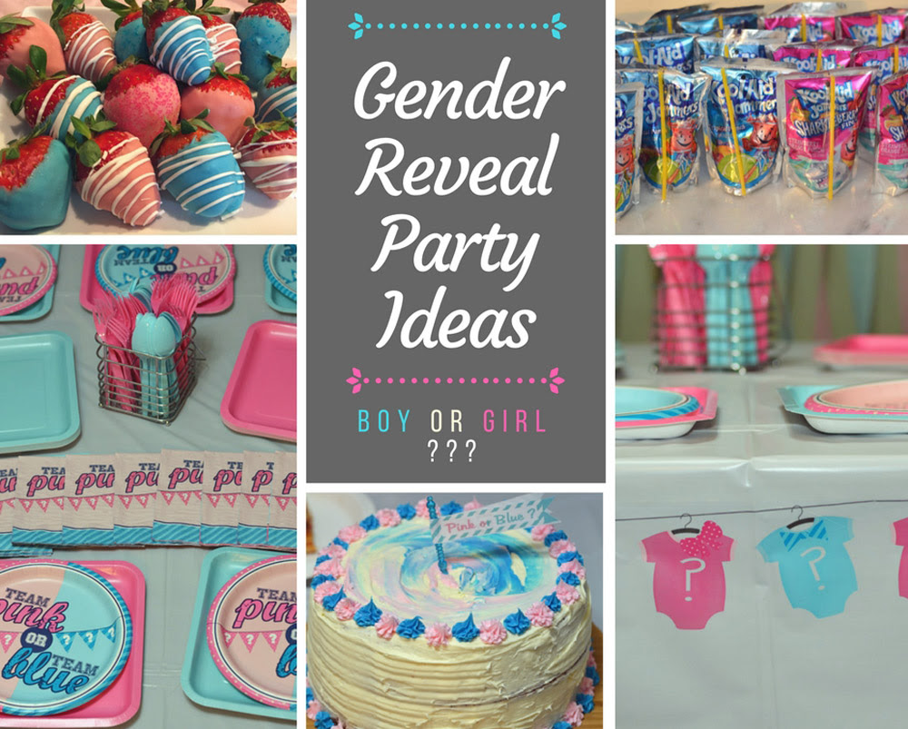 Gender Reveal Party Ideas Gender Reveal Cake Pink Blue Food
