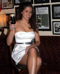 Miss Limerick Gemma Reilly with the new 'Harris Hellraiser' cocktail at Charlie St George's pub in Parnell Street, Limerick