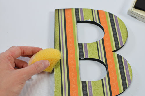 Chipboard Letter - ink sides