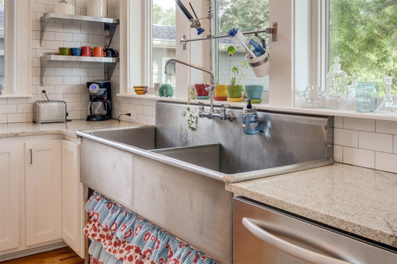 Industrial Sink in a Kitchen | Used Building Materials