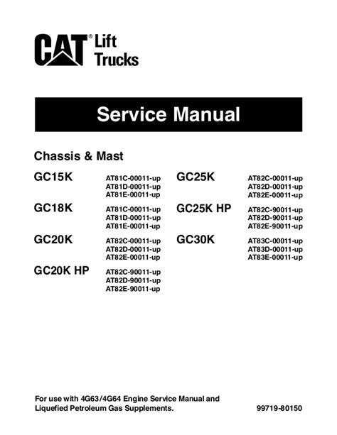 Caterpillar cat gc25 k hp forklift lift trucksservice
