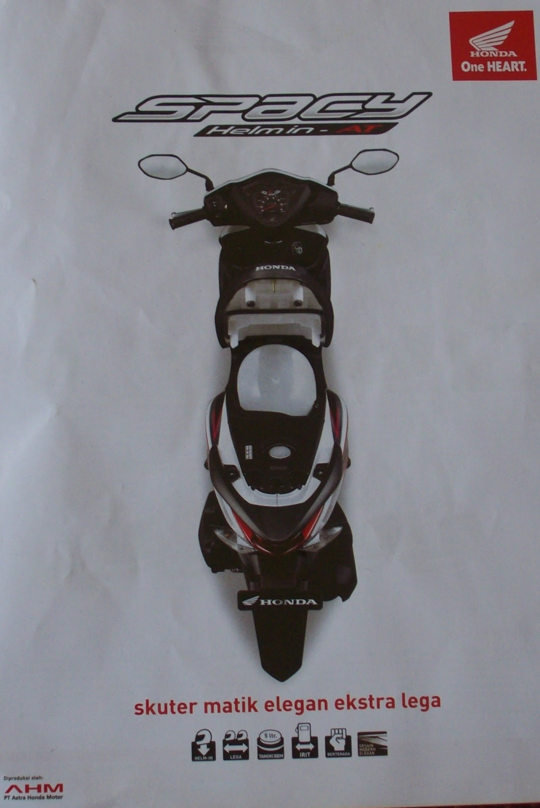 Honda spacy Helm- in CW