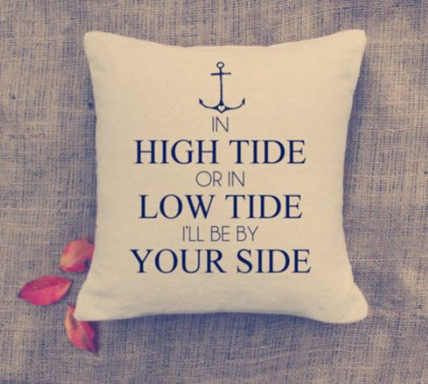 Home Accessory Love Quotes Pillow Valentines Day Anchor Quote