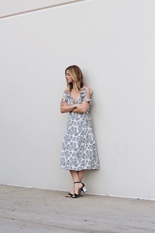 Le-Fashion-Blog-Floral-PriLe Fashion Blog Floral Print Dress Ruffled Black Heels Via Take Aim
