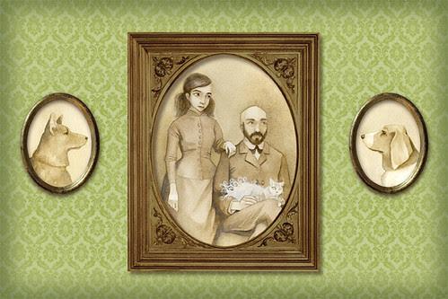 Wedding Portrait Illustration - The Family