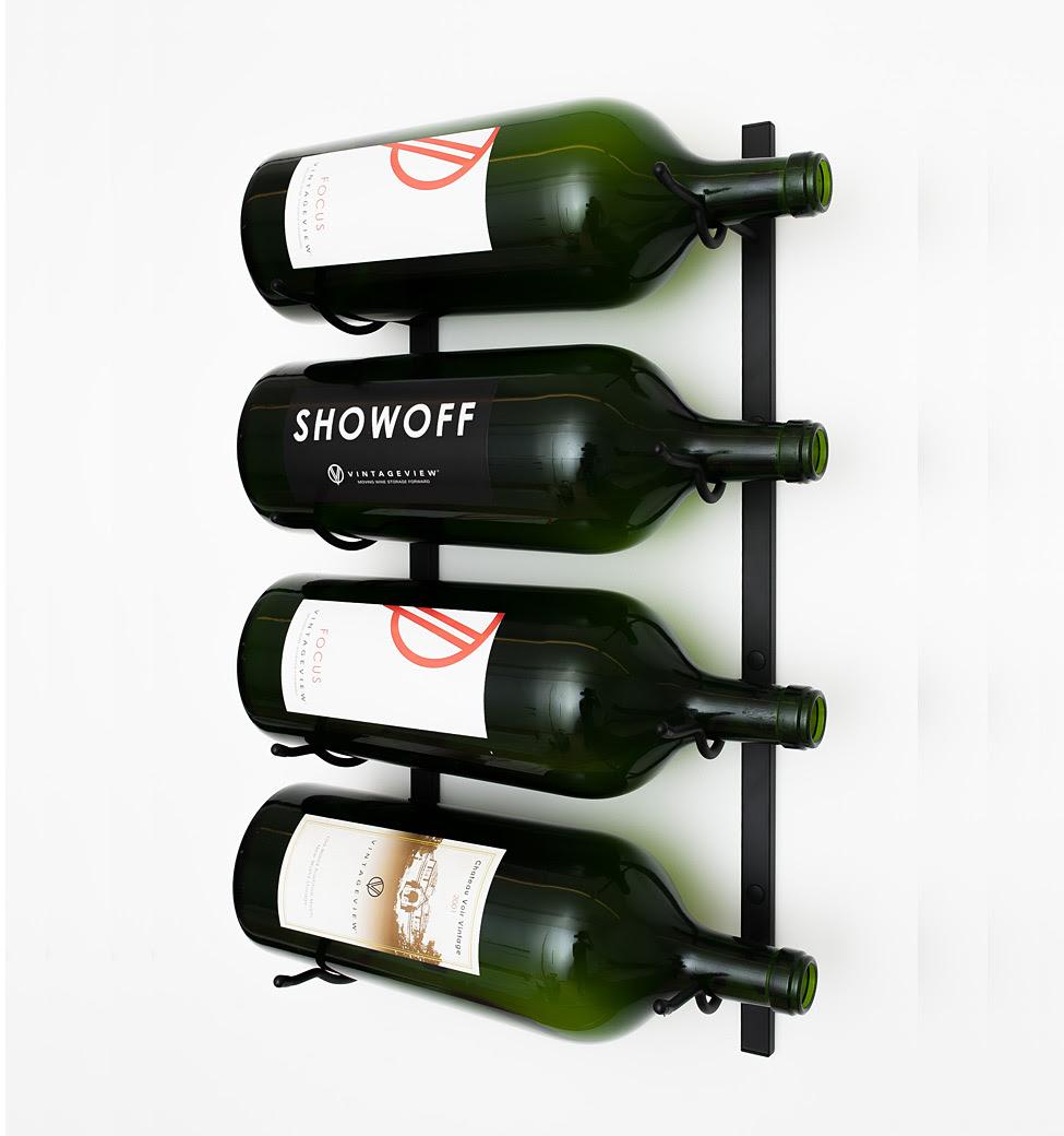 Vintageview Big Bottle Wall Wine Rack 3 6 Liter Bottles Vino Grotto