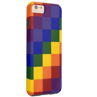 Checkered Rainbow iPhone 6 Plus Tough Case Tough iPhone 6 Plus Case
