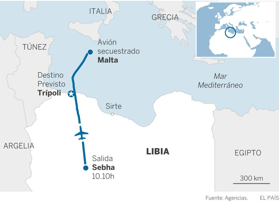 Sequestradores de avião líbio desviado a Malta libertam passageiros e se rendem