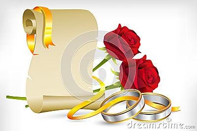 Wedding Or Engagement Party Invitation Decorative Element Stock ...