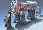 Dibujo de Goran Divac, Serbia, premio en caricatura de opinión