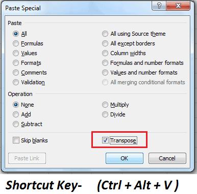 Ctrl + Alt + V   - Paste Special 30 Excel shortcut keys that make Excel user friendly | Learn Excel Shortcut Keys in Details
