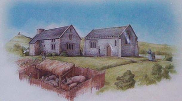 Sketch of Beckery Chapel, Somerset