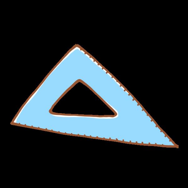 三角定規のイラスト かわいいフリー素材が無料のイラストレイン