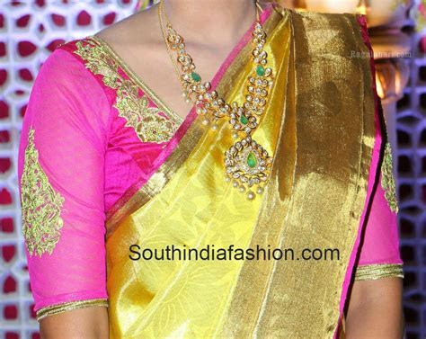 wedding blouse with net sleeves