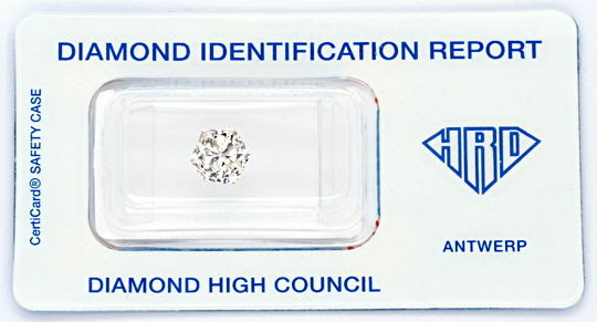 Foto 1, Super-Diamant 2,12ct VVS1 HRD Fire-Rose Hexagon Diamond, D5727