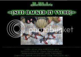 Hacker Indonesia menghancurkan situs Israel