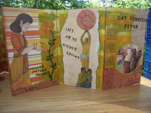 Collaged Accordion Book 5