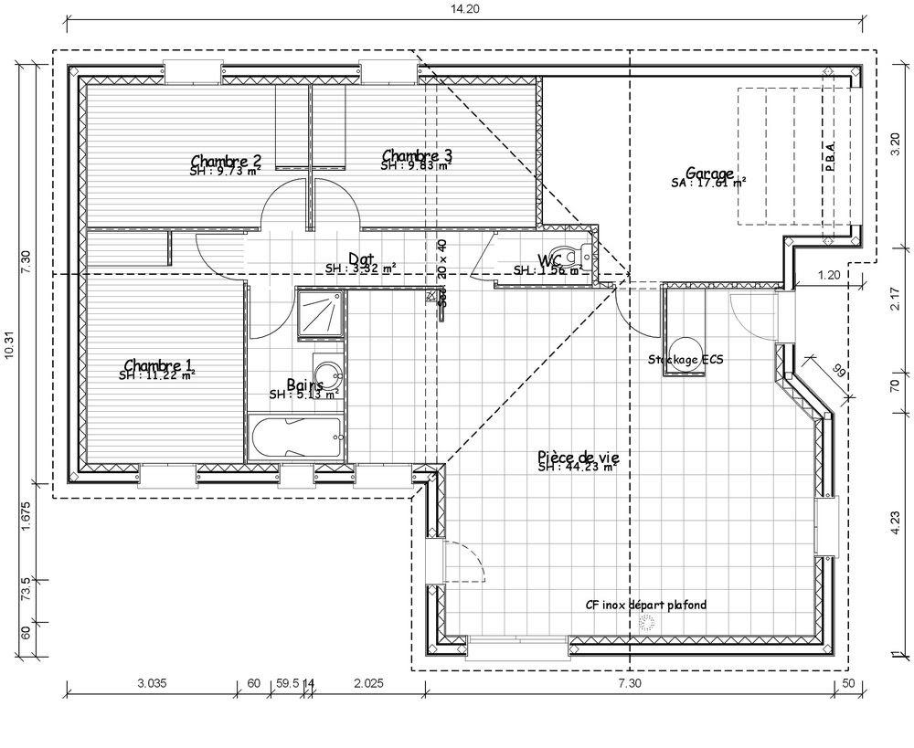 Plan De Maison Moderne home design: 20 new 90m2 house plans