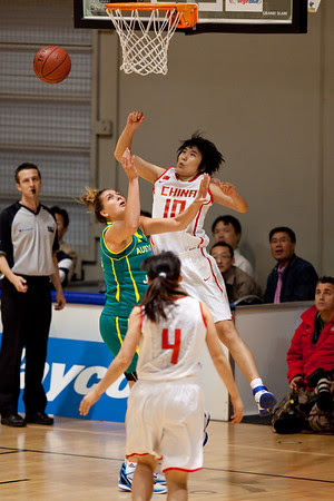 Cayla Francis - Opals v China International Women's Basketball, Logan Metro Sports Centre, Crestmead, Queensland, Australia; 24 July 2011. Photos by Des Thureson: http://disci.smugmug.com.