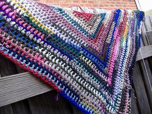 shawl in progress