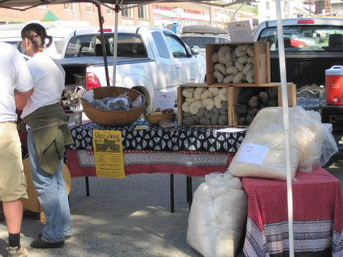 wool at the farmer's market