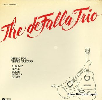 DE FALLA TRIO, THE music for three guitars
