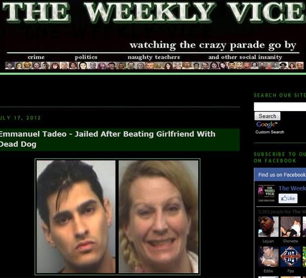 Emmanuel Tadeo e a namorada Andrea Armintrout, que foram detidos após briga (Foto: Reprodução)
