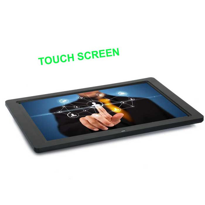 12 Tft Touch Screen Hd Digital Photo Frame W Sd Usb Built In