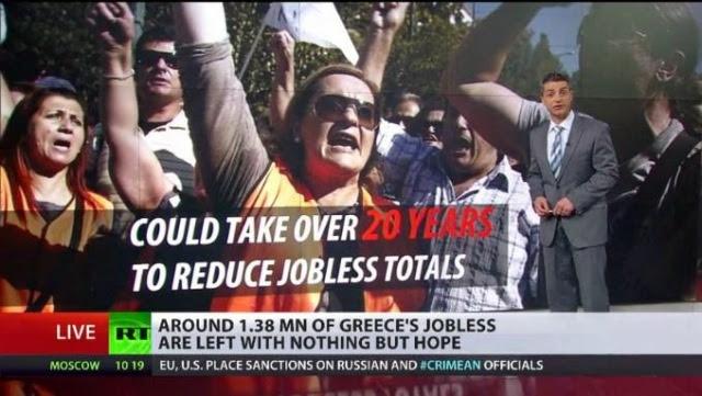 θα έπαιρνε στην χρεωμένη χώρα 20 χρόνια, μόνο για να ξεκινήσει να αντιμετωπίζει την ανεργία.