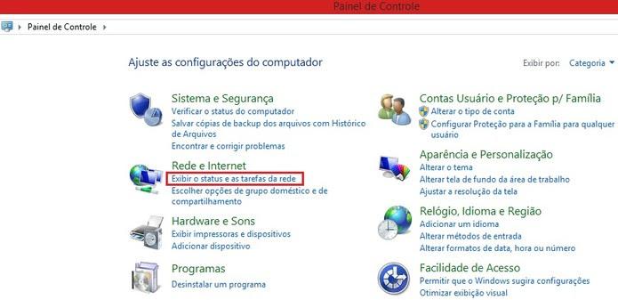 Painel de Controle no Windows 8 (Foto: Reprodução/Marcela Vaz) (Foto: Painel de Controle no Windows 8 (Foto: Reprodução/Marcela Vaz))