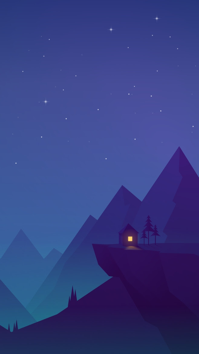 House-on-Mountains-Animated-iPhone-Wallpaper - iPhone ...