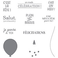 Humeur Festive Clear-Mount Stamp Set (French)