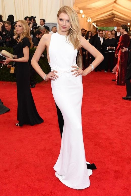 Le Fashion Blog 7 Best 2014 Met Gala Model Looks Lily Donaldson White Wrap Burberry Gown Dress photo Le-Fashion-Blog-7-Best-2014-Met-Gala-Looks-Lily-Donaldson-Burberry.jpg
