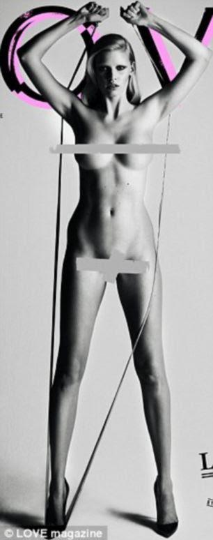 Amor-it: Kate Moss (à esquerda) e Lara Stone posou nua na capa da revista Love, há dois anos
