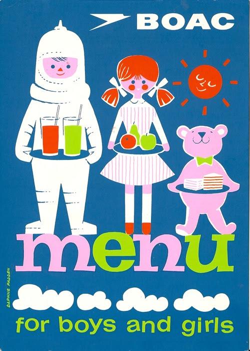 Daphne Padden BOAC children's menu