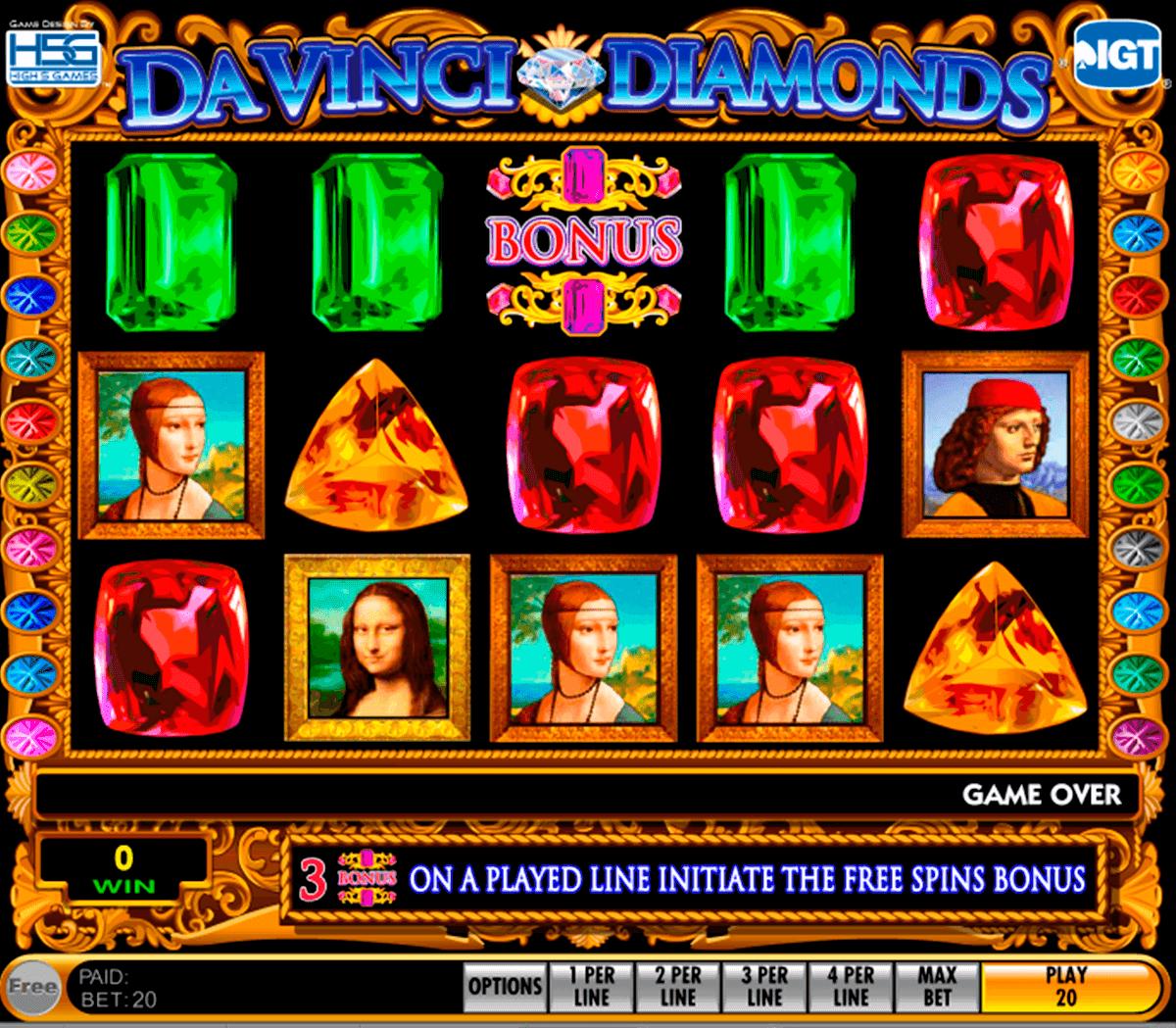 Da vinci diamonds masterworks igt casino slots bossier omania