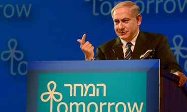 Prime Minister Netanyahu at the President's Conference in Jerusalem, June 20, 2013.